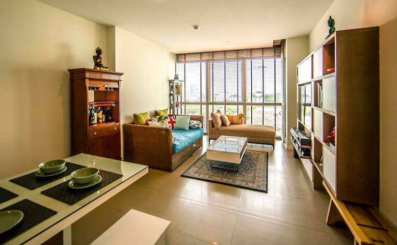 theRIVERview+1BR+sleep3+BTS+wifi - Bangkok - Appartement