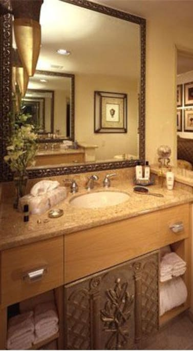 Bathroom sink/vanity.