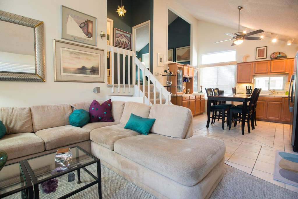 Living, Dining and open Kitchen Area