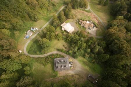 Trailer parking & camping - Mountain & valley view - Monroe - Karavan
