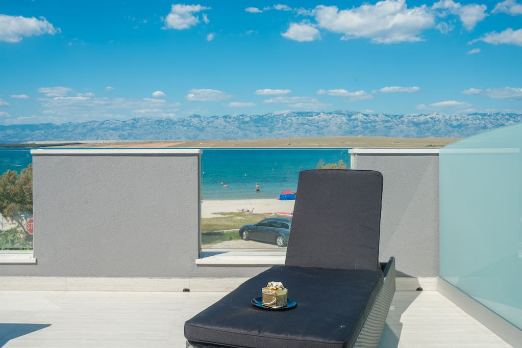 Loungers on balcony for ultimate comfort