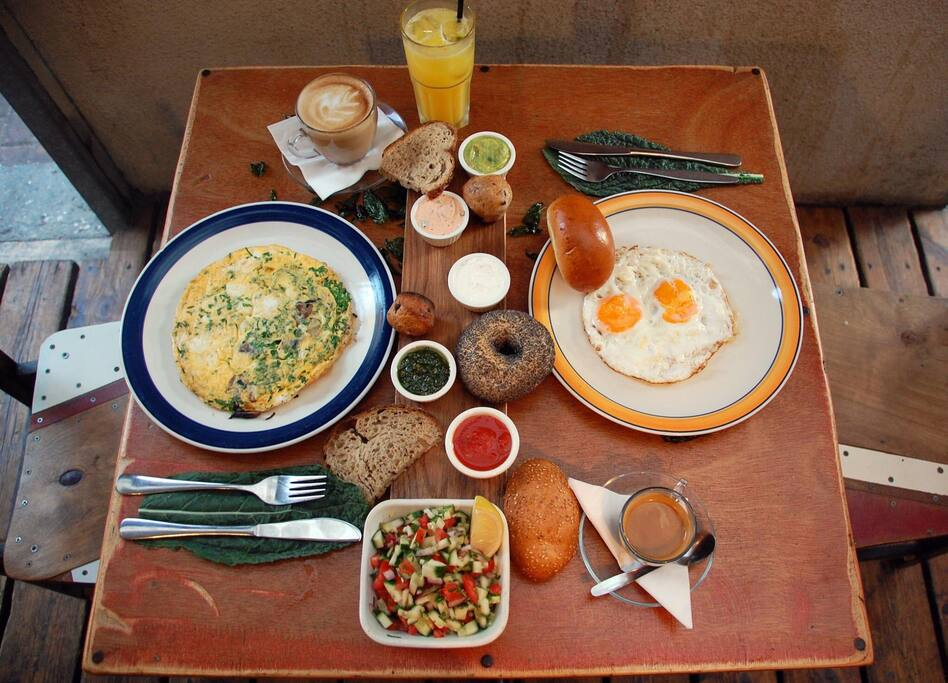 Our included breakfast- waiting for you every day at the casbah caffe