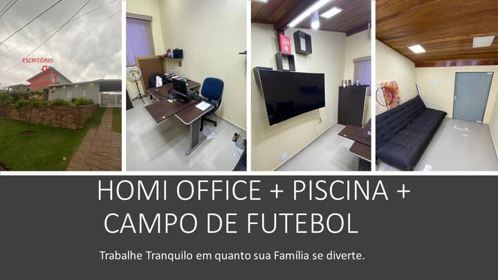 Chácara - Home Office privativo c/piscina aquecida