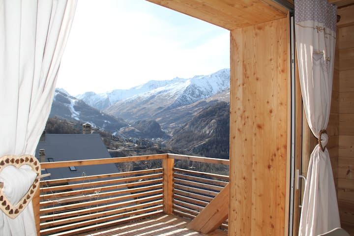 Duplex plein sud, vue imprenable: 8pers, 3 ch - Valloire - Apartment