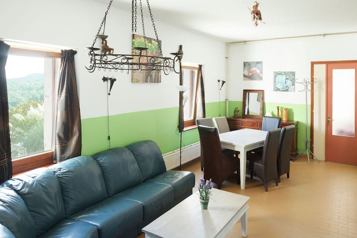 Traditional Apartment in Poffabro with Fireplace