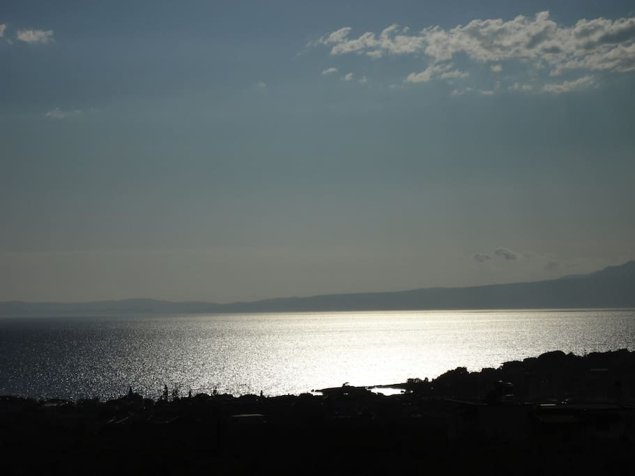 Sea view at sunset