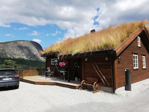 Ny, fin hytte på Brokke til leie. Passer for1-2fam