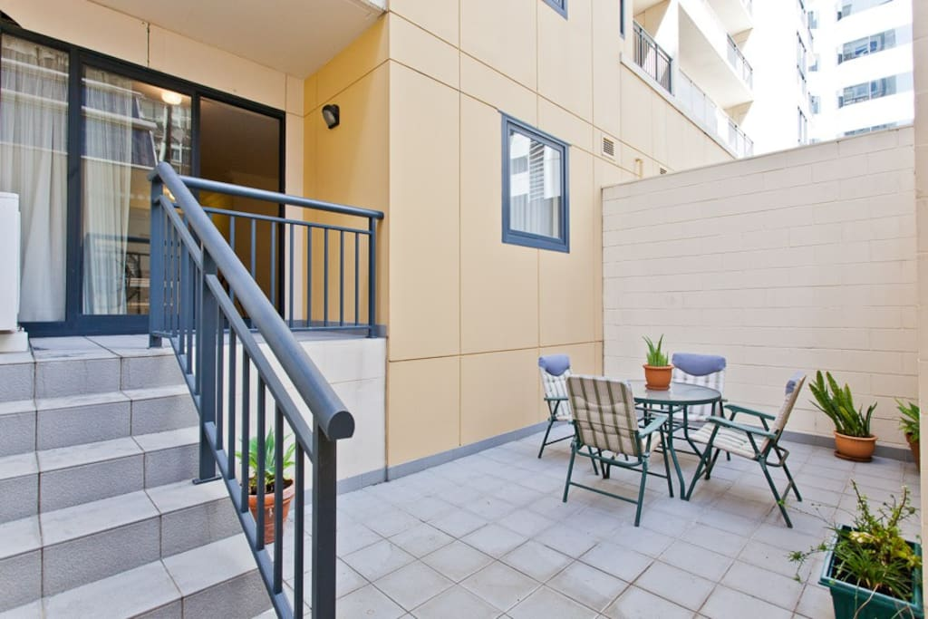 Private outdoor courtyard
