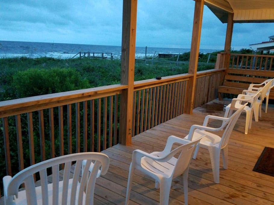 Enjoy lazy sunsets, peaceful evening breezes on the covered back deck.