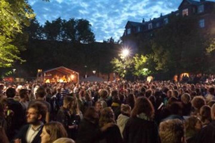 Blågårds Plads (Blågårds Square ) - often with food or flee markets, concerts, political meetings etc