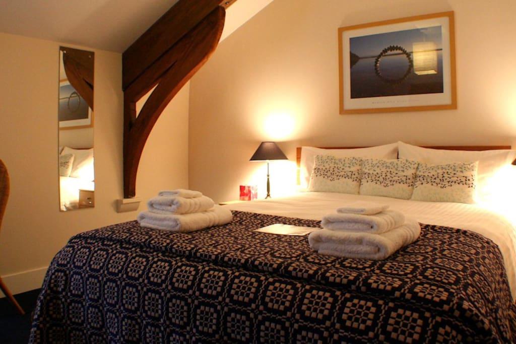 Room One - King size Vi-spring bed, ensuite shower room