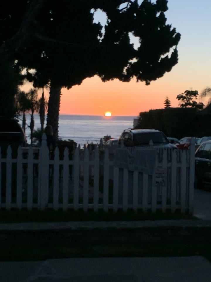 Sunset from the front patio.