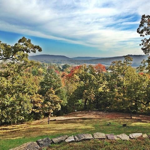 This is the view of the yard in the fall - spectacular!