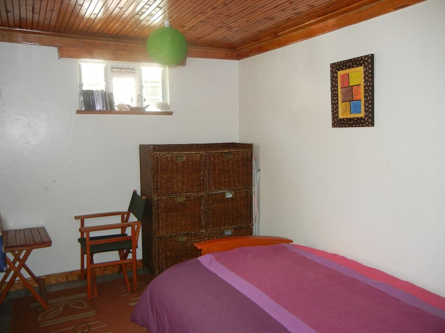 Shared Bedroom with Sofa Bed, Study Desk and Chest of Drawers, easily converts to lounge or study area.