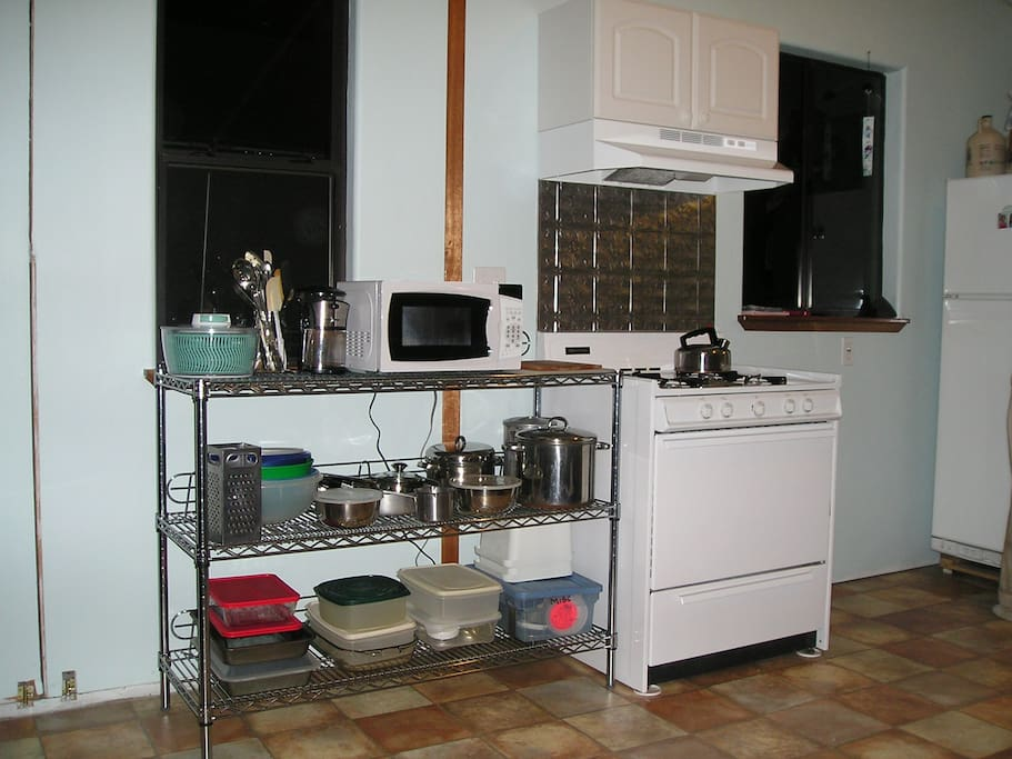 The west side of the kitchen
