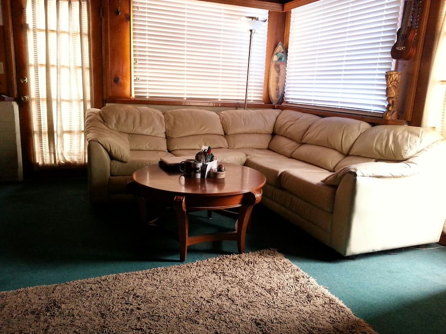 Studio Cabin / couch and coffee table
