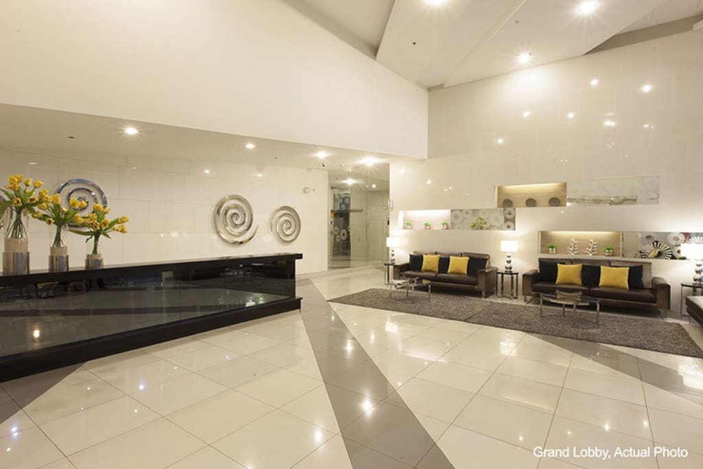 This is the lobby lounge area at the ground floor.
