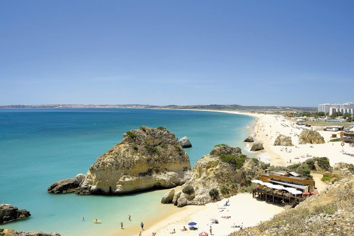 View of world class Alvor Beach. The apartment is located in the buildings showed on the right side of the photo.
