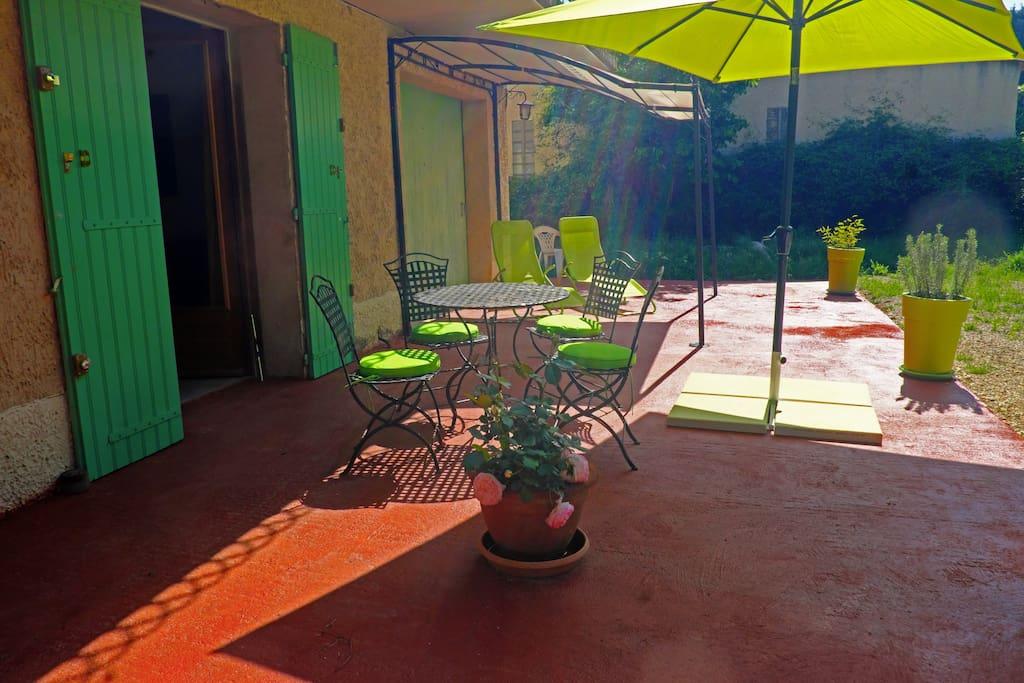 Une autre vue de la terrasse