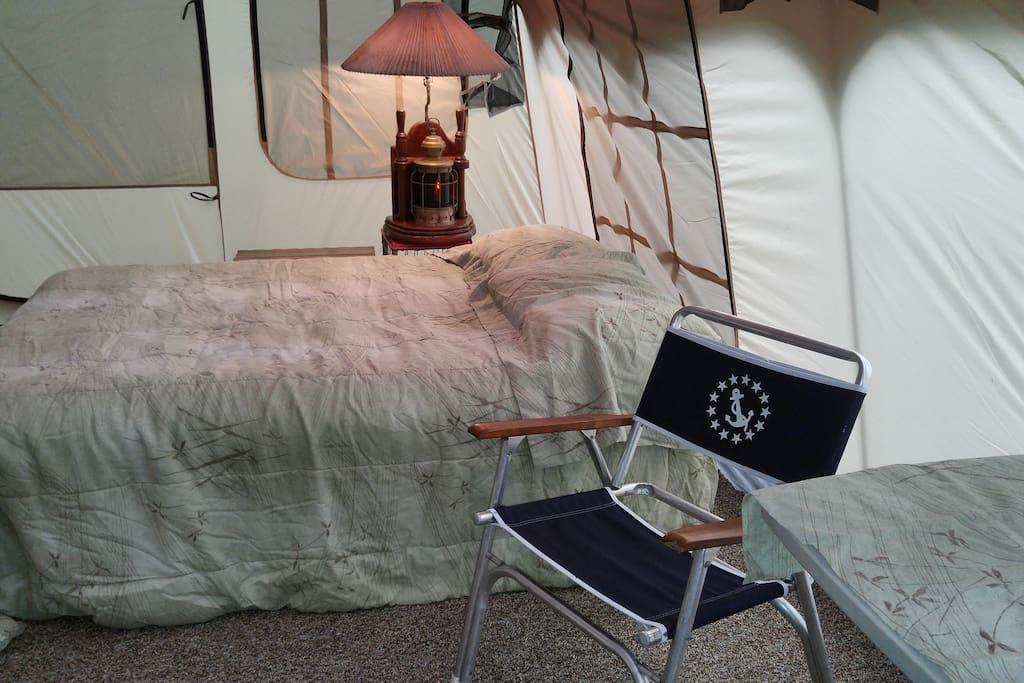 Spacious sleeping area.