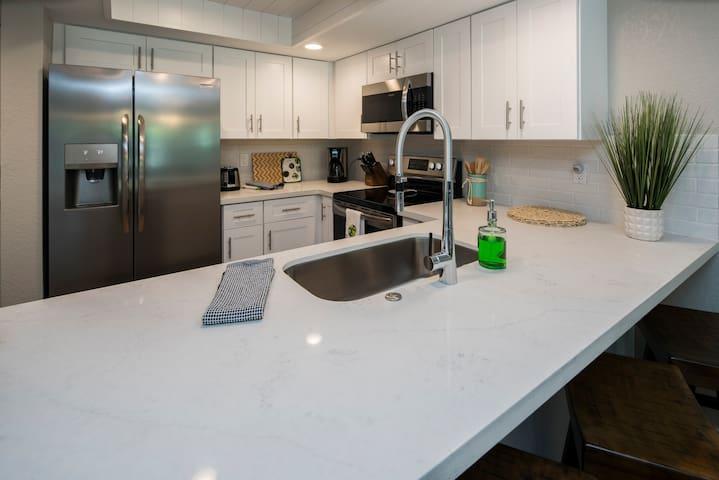 Fully remodeled kitchen.
