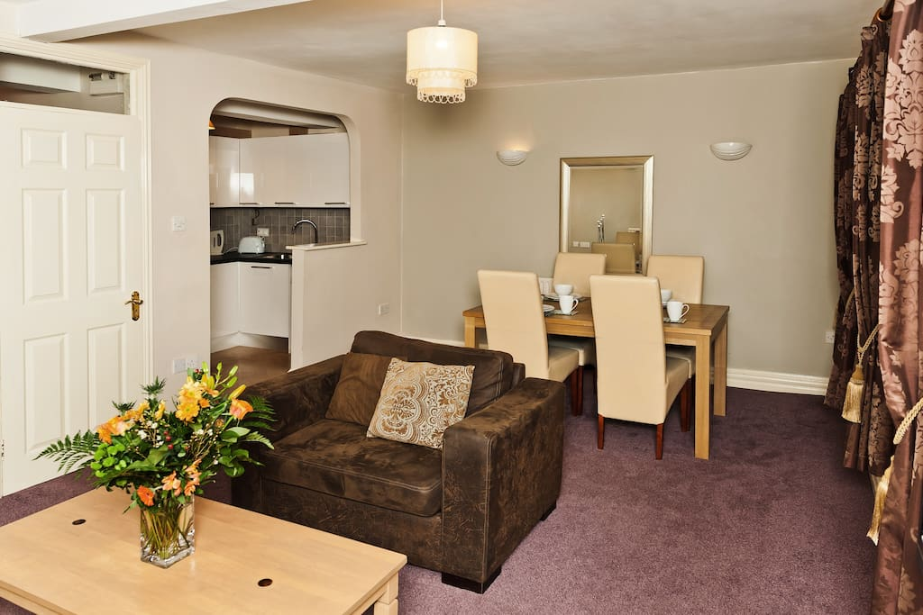 There is a double and a single sofa bed in the sitting room for additional guests.