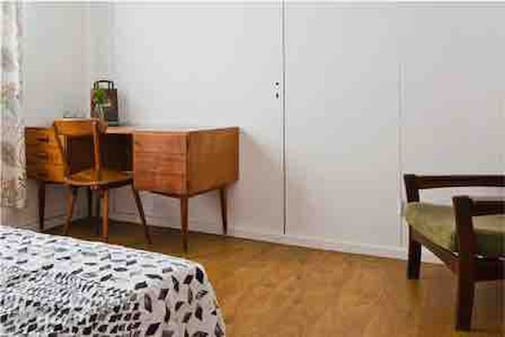 Bedroom. The bedroom has changed dramatically, in order to create a more spacious room, yet functional