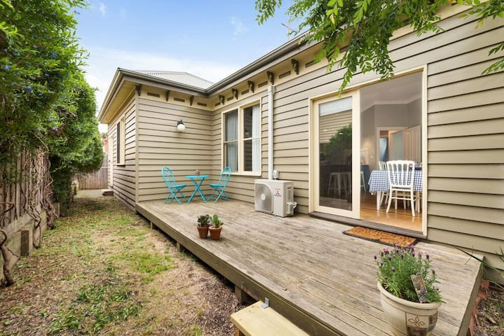 Private rear garden and deck