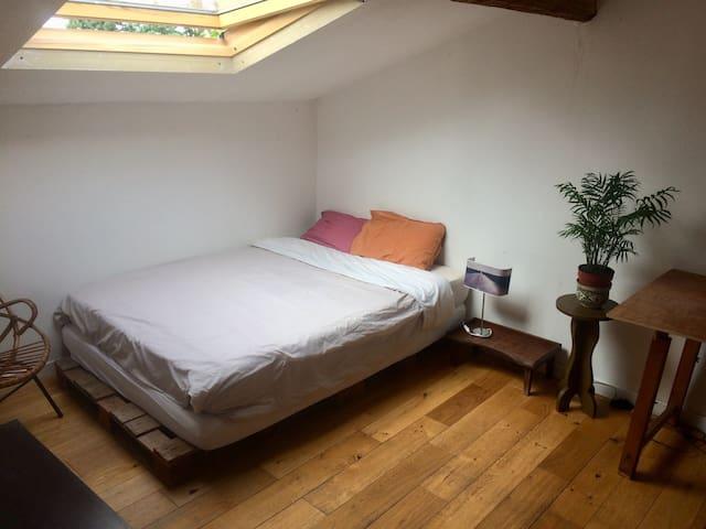 Chambre calme dans une superbe maison partagée