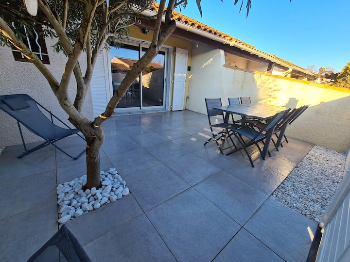 Villa Cap d'Agde climatisée, piscine.