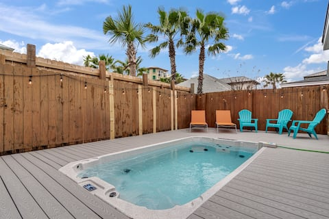 Sleeps 18 🏖️ Private Hot Tub/Pool ⛱ No Fees! ⛱ Zula Breeze Beach House