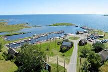 View overlooking Tosteberga harbour