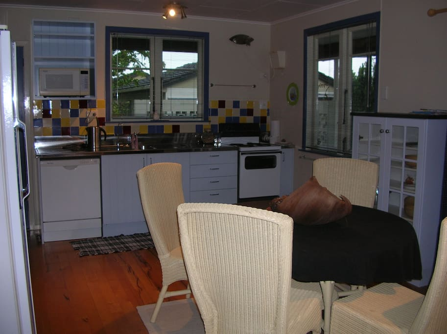 The kitchen has everything you will need, or restaurant and cafes just a short walk away.