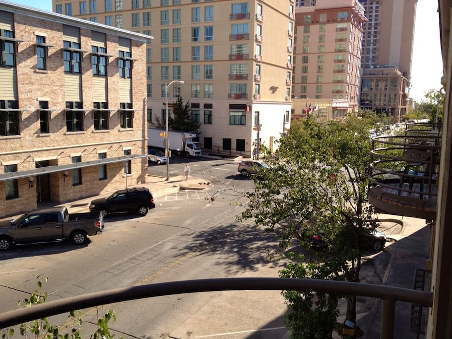 View from Balcony overlooking 4th St.