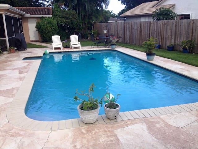large pool for swimming laps