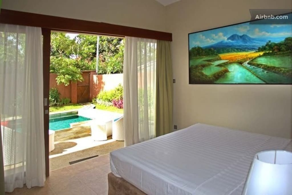 Direct access to the pool by your bedroom