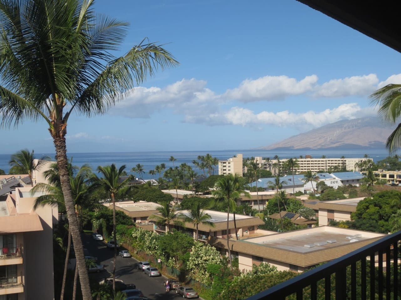 Ocean view from balcony and views of West Maui.