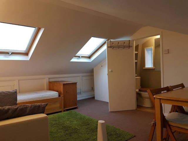 Spacious loft room