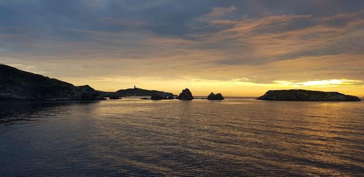Bercé sur un voilier à l'Île des Embiez