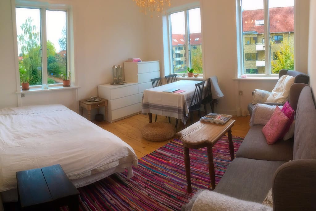Living Room with double bed