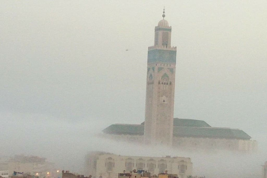 Few from the room on Hassan II mosque