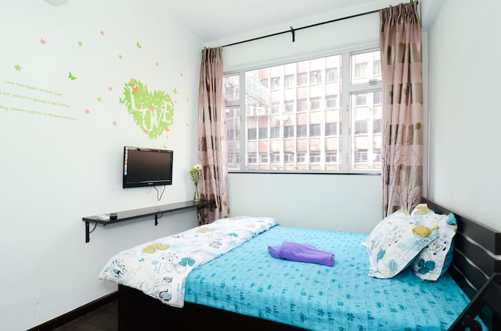 Tidy, quiet Room 6, near MTR, Poly University