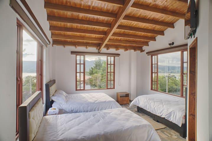 Habitación en Guatavita con encantadora vista