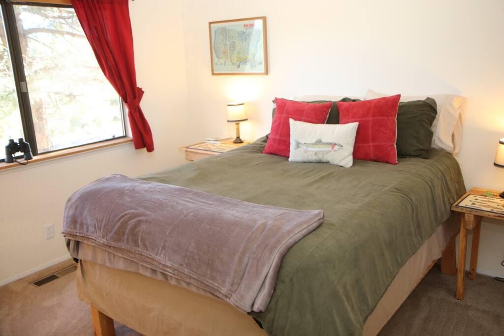 Bedroom #1 - queen bed, lots of closet space.