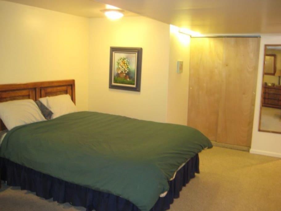 Apartment queen bed