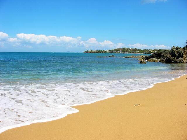 Sea glass beach, just a one-minute walk from Casa Ladera