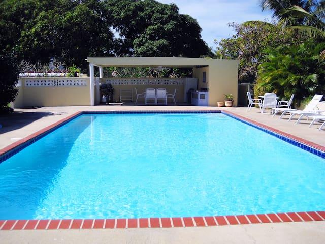 Enjoy our beautiful 20x40-foot salt water pool