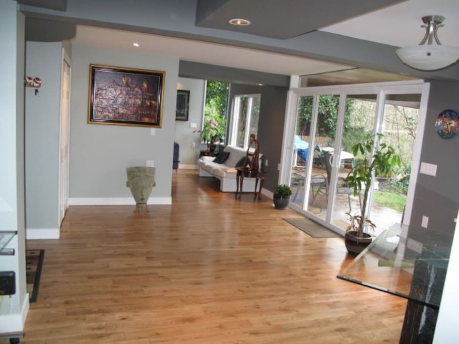 Lobby. View from the dining room towards the lobby, living room