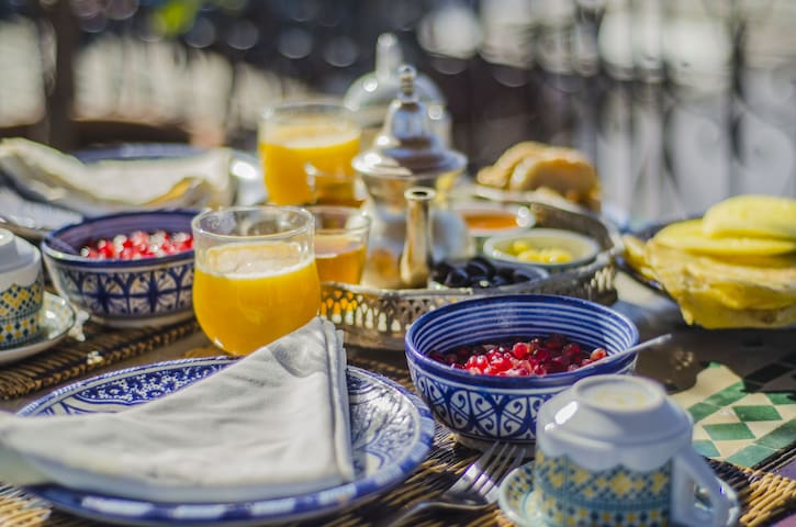 Chambre double avec petit déjeuner - Marrakesch - Bed & Breakfast