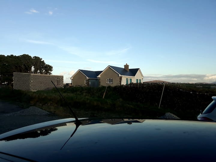 Private beach, views to Achill, modern bungalow.